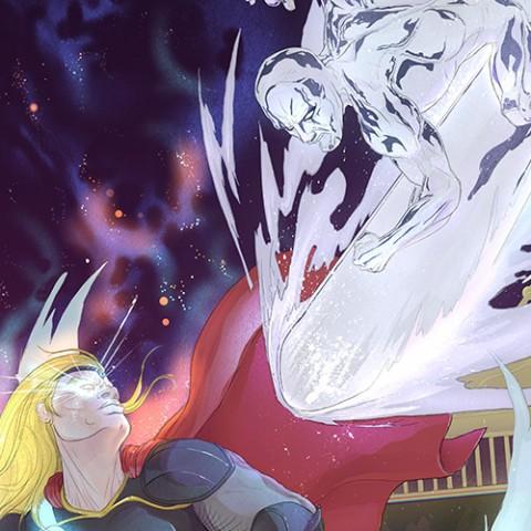 Sivler Surfer vs Thor